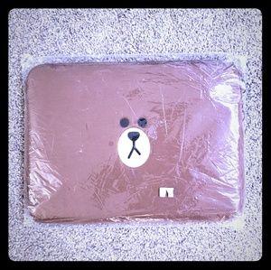 Handbags - Brown line friends laptop case bag